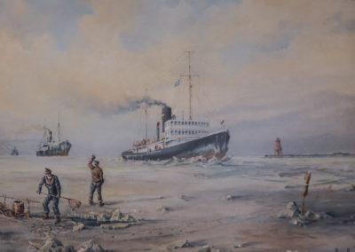 Die Stettin in ihrer Jugendzeit bei der Arbeit